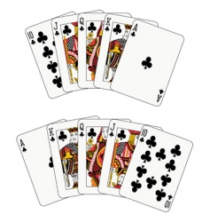 royal flush club vector image vector image