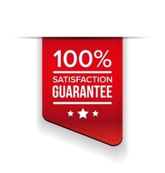 Satisfaction guaranteed black ribbon vector image