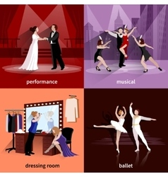 Set Of 2x2 Theater Images vector