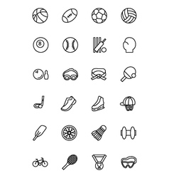 Sports Line Icons 1 vector
