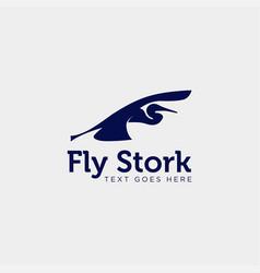 Stork business logo template creative vector