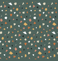 terrazzo seamless pattern print in classic vector image