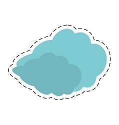 travel cloud weather concept cut line vector image