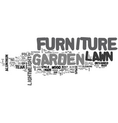 What is lawn and garden furniture text word cloud vector