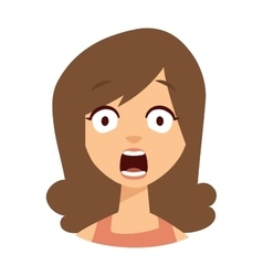 Women scary face vector