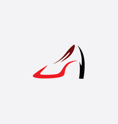 women shoes heel icon logo symbol vector image