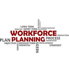 word cloud - workforce planning vector image