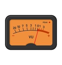 Analog Volume Unit Meter Measuring Device vector image