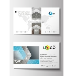 Business card templates Cover template easy vector image vector image
