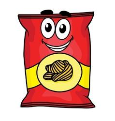 Cartoon potato chips character vector image vector image