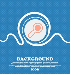 magnifying glass zoom sign icon Blue and white vector image