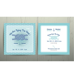 Nautical anchor rope tying the knot wedding card vector image