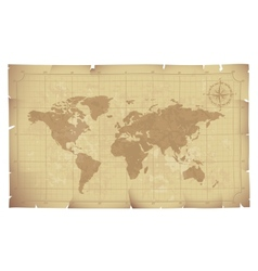 Old map vector image vector image