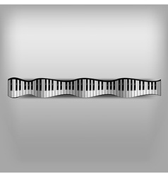 Piano Wave Keyboard vector image