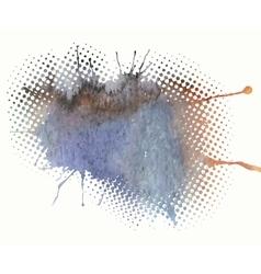 watercolor splash a nice spot vector image