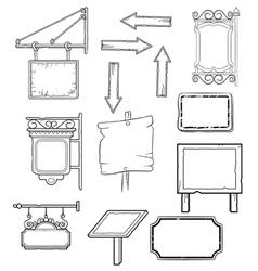 worn signs vector image vector image