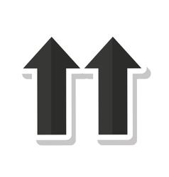 arrows side up symbol vector image vector image