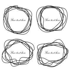 black hand drawn scribble in elliptical form vector image vector image