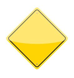 Blank warning sign vector