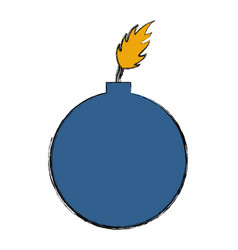 bomb icon image vector image