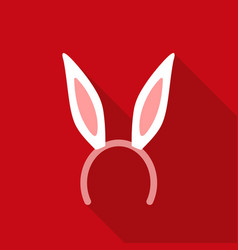 bunny headband icon in flat style isolated on vector image vector image