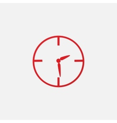 red clock icon vector image vector image