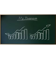 Business Plan on Schoolboard in vector image vector image