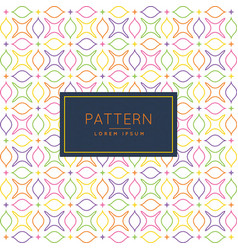pattern with floral shapes vector image vector image