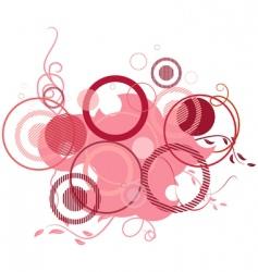 pink banner consisting of circles vector image vector image