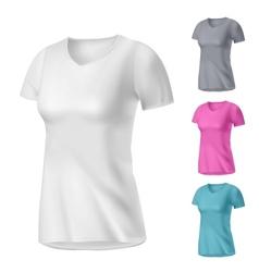 Sport womens t-shirt vector