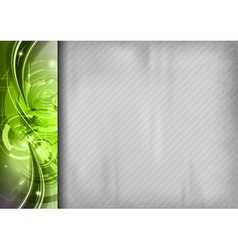 tech background line left green vector image
