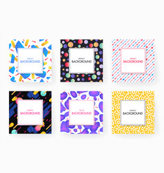 covers with geometric design vector image
