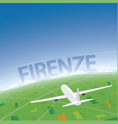 florence flight destination vector image vector image