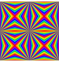 geometric rainbow seamless pattern vector image vector image