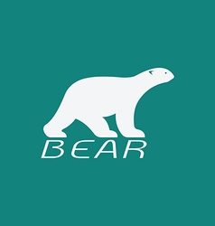 image of an bear white design vector image vector image