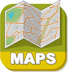 Map booklet on green background vector image