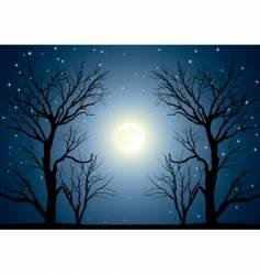 moon trees vector image vector image