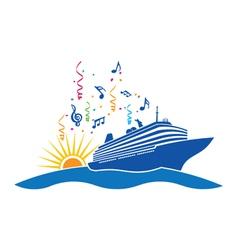 Party Cruise logo vector image vector image