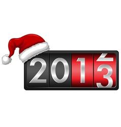 2013 with Santa Cap vector