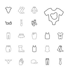 22 wear icons vector