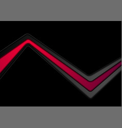 abstract black corporate background with red vector image