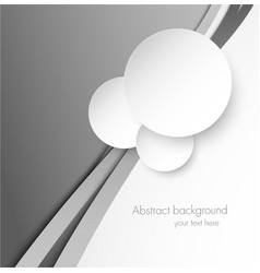 Abstract gray background with paper circles vector