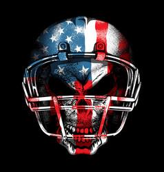 American football skull vector