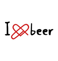 beer love icon vector image