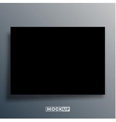 Black background template for mockup banner vector