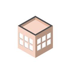 block windows robuilding isometric style vector image