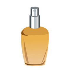 Bottle of woman perfume on light background toned vector