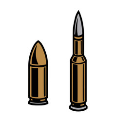 Bullets different calibers concept vector