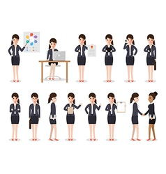 businesswoman people characters vector image