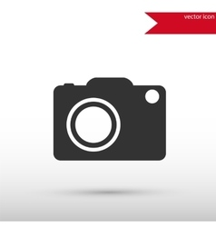 Camera icon Camera symbol Flat design style vector image